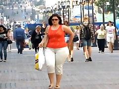 BIG BOOTY CURVY LATINA IN WHITE PANTS