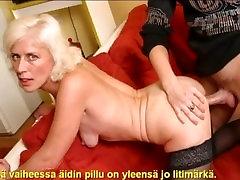 Slideshow with Finnish Captions: Mom berglers fuck 1