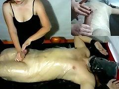 Femdom mia kaifra and Plastic Wrap Bondage