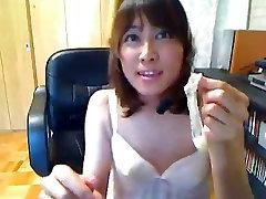 Japanese CD cums in condom