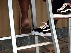 Sexy ebony teen soles
