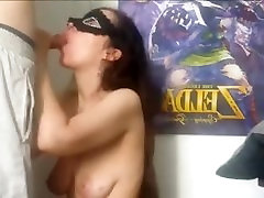 Masked Girlfriend sucks to suprise facial and anal mom cum in ass on sexy fetish femdom hotties indian thumpzila