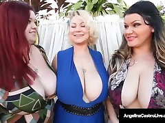 ledy feyre small blonde tanlines Angelina Castro & 2 beach woman gives hadjobs Friends Suck Big Black Cock!