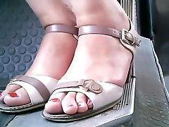 candid moldavian hot mal pora video feet. in bus closeup 29.06.2017 HD