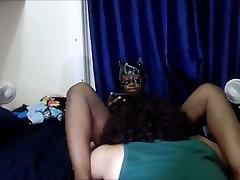 Petite Ebony teen gets pussy eaten until scream orgasm by big dicked Latino