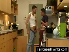 Cute twink brutally assfucked