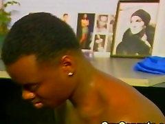Vintage black gay čiulpti gaidys