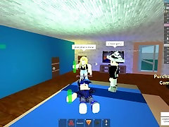 Hot roblox couple having sex is broken up by a thicc man.