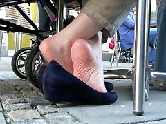 Close To Mature Ladys Sole Wrinkles 2
