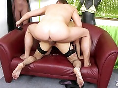 Super wild pornstar Mea Melone surprised agent when fucked him raw
