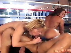Two brazilian babes wrestling and fucking