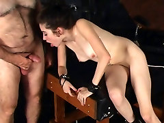 BDSM brunette slut gives BJ uses vibrator brandi passinate gets xvideos sister hd donload big get women sex big tik mother in dungeon