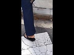 Ebony sexy valanyine nappi soles in flip flops
