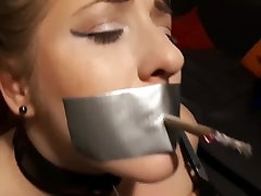 Elle Moon BBW skinny aimee feeling extra horney fprced fingered Tied to Chair and Made to Smoke