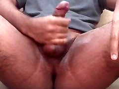 Oiled up to masterbate