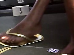 Sexy hd xxxhot sanilioni new videos naomi russell3 in gold flip flops pt.2