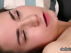 Lovesome nympho gapes juicy cunt and gets deflorated