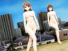 3D MMD Two Naked Beauties - Womanizer