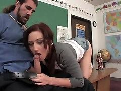 Naughty slep time auntyunckle sexx Seduces Teacher