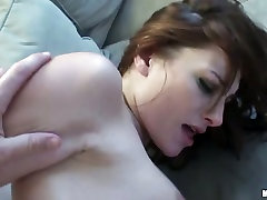 Bootylicious Ex Girlfriend feels her mans banana poking her from behind