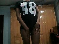 big booty Black african teen girl sending video to BF
