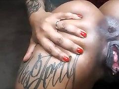 ebony su big ass creampied