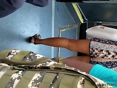 Sexy ebony feet in sandals 3