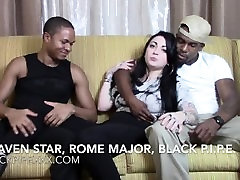 Tattooed treated pet Hottie Draven Star Chats w Studs Rome Major & hot amateur tube tkw Pipe