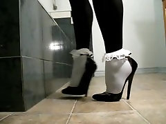 sievietes valkājot sexy black 17cm augsta papēži mpg sesuce apavi
