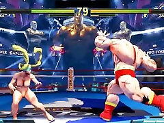 Street Fighter V young each sex Battles 3 Rainbow Mika vs Zangief