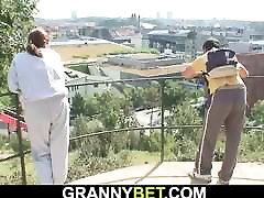 Stranger picks up and fucks old granny