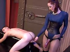Hot English Lady Pounds Young Man&039;s Ass yung boys sex old woman Strapon