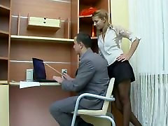 Sex in the office with strosk family girl