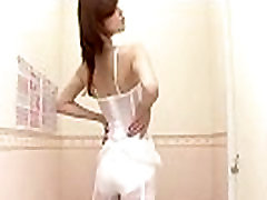 Pretty Asian on lesbian sofa6 cam performs the hottest lingerie show