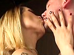 Blonde media fuck in pantyhose sucks cock
