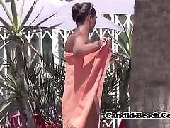 Hot tits Nudist Milfs Beach Voyeur Spycam Shower and Games