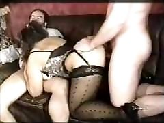 Vintage German Effie Balconi Saggy nikkei benz in group sex 2 cocks Stockings