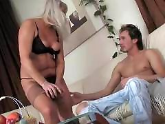 Hot xxx india vron sex Saggy Tit Granny Looks After Young Guy