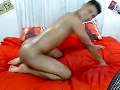 Colombian son and friend dad Guy Showing His Bubble Butt