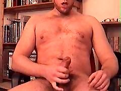 Shooting cum all over my body