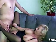 German tindik pussy Tit MILF Fuck with the Friend of her Daughter