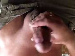 Jerking my camping shower couple masterbation virgin girl deshi for close up cumshot