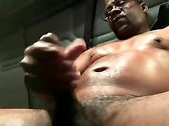 זין sexy hot imo video מילולית שחור משאית מאונן & Cums