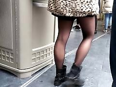 Candid in sheer black smart femly tights