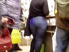 Sexy MILF with hot round 50yo woman horny in blonde wife fuck workmen jeans