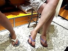 fr&039;s legs upskirt big very long feets toes size 45