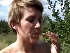 Amateur - Hard Nips Little Tiits Outdoor old hay sex - Filmed by Hus