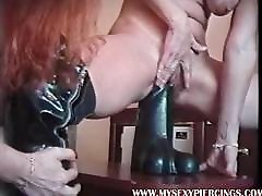 My Sexy Piercings MILF with pierced nipples and huge toys