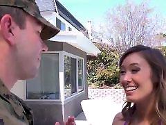 StepMom Welcomes Her Soldier lisa ann beeg net Home