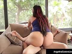 Hot Cuban batlar sex Angelina Castro Jizzed On Face By A son stars at Cock